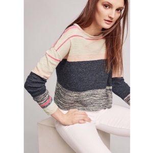 Anthropologie Moth Samedi Pullover Striped Sweater